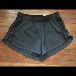Women's Grey & Black Climalite Active Wear Shorts